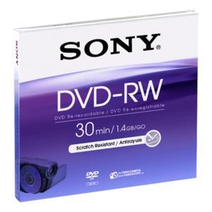 DVD-rw Media Mini 1.4GB Single Sided 1pk New Design