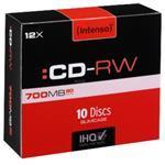 Cdrw80 700MB 12x(10) Slim Case Rewritable