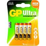 Gp Batteries Ultra Alkaline 24au 1.5v Aaa 4bat/1pk
