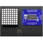 Small 1.2i 8x8 Bright Square LED Matrix+ Backpack Blue