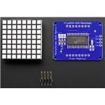 Small 1.2i 8x8 Bright Square LED Matrix+ Backpack Amber