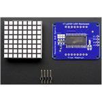 Small 1.2i 8x8 Bright Square LED Matrix+ Backpack Green