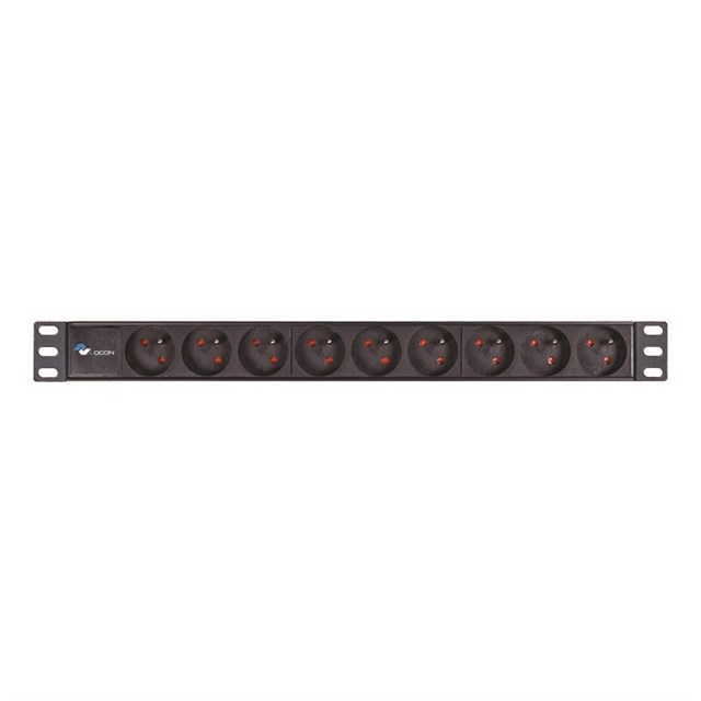 Power Strip 19in 9 Way Full Aluminium With C14 UPS Port