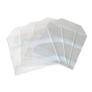 Cd Polypropylene Pocket With Fold Over Flap 100pack